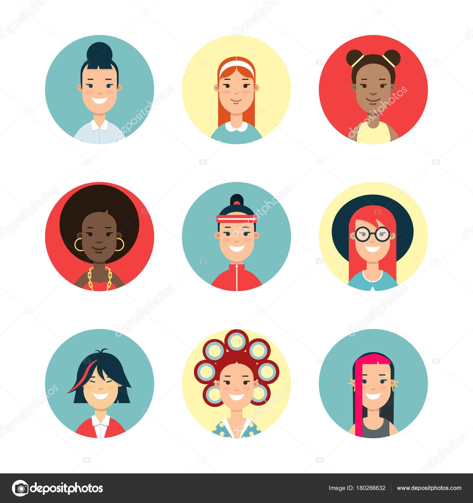 flat characters avatars stock vector sentavio 180286632