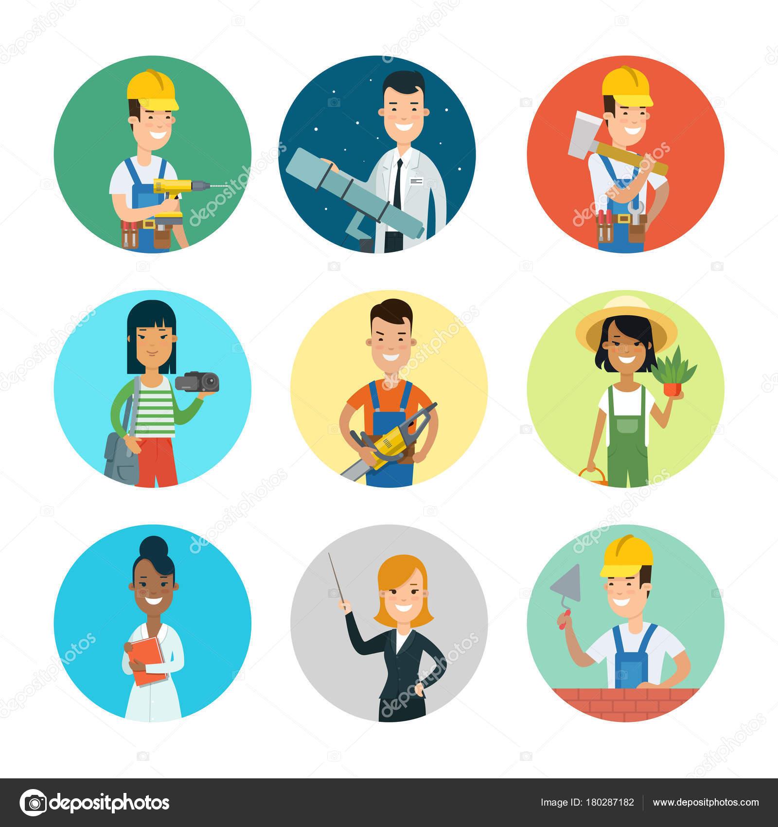 people character profile avatars stock vector sentavio 180287182