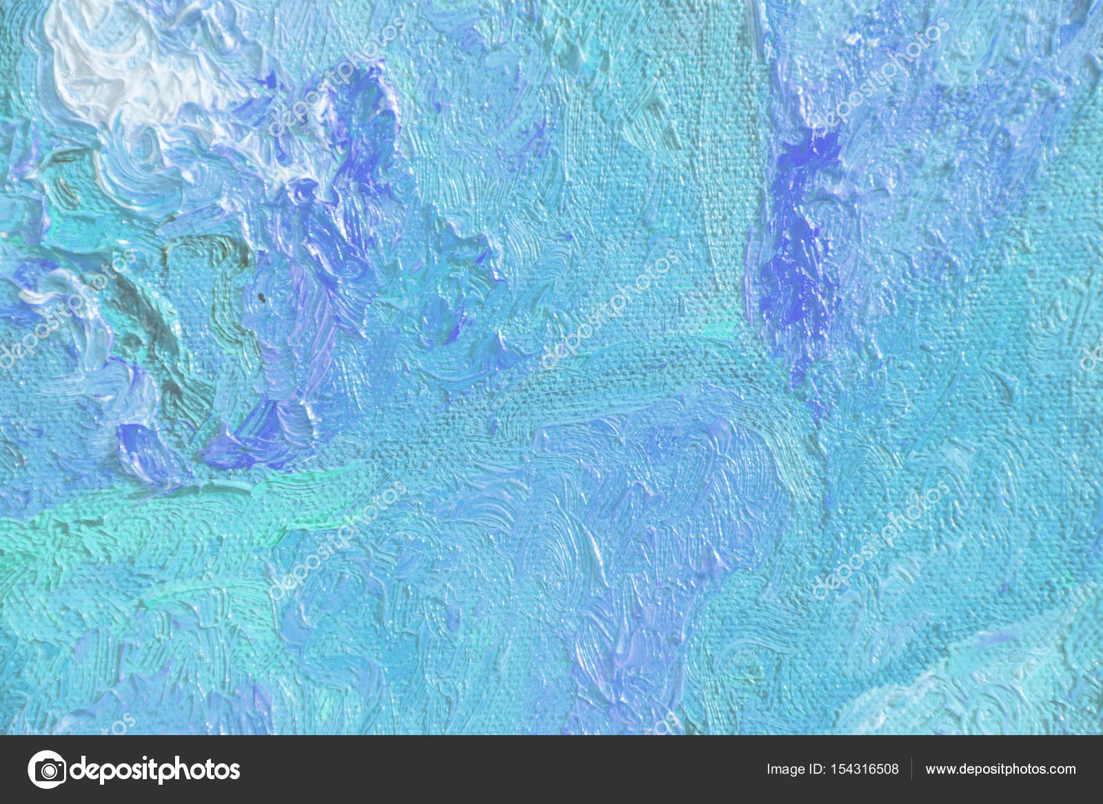 Colorful abstract texture of oil painting blue texture