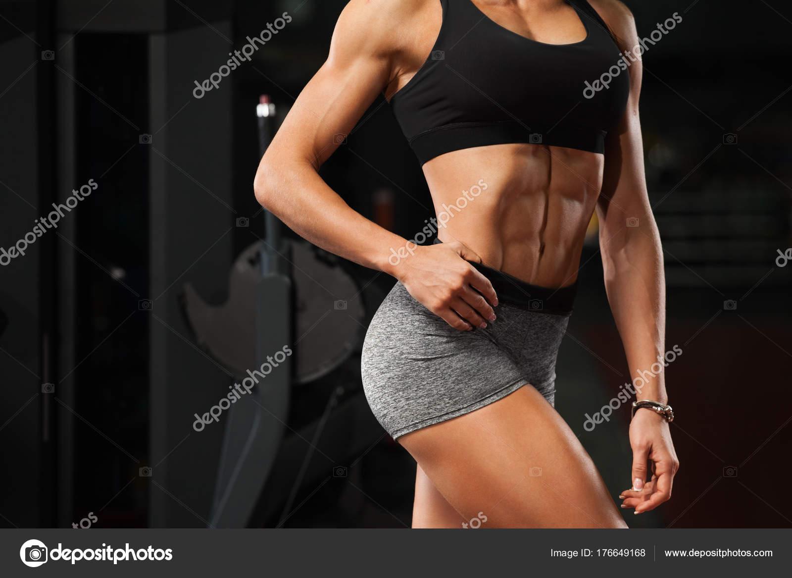 Fotos Abdominales Mujeres Mujer Sexy Fitness Mostrando