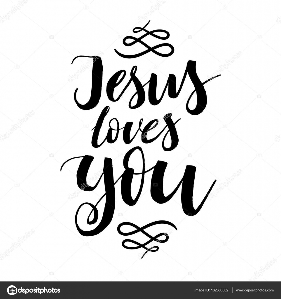 Jesus Inspirational Quotes Jesus Loves You  Vector Inspirational Quotedesign For