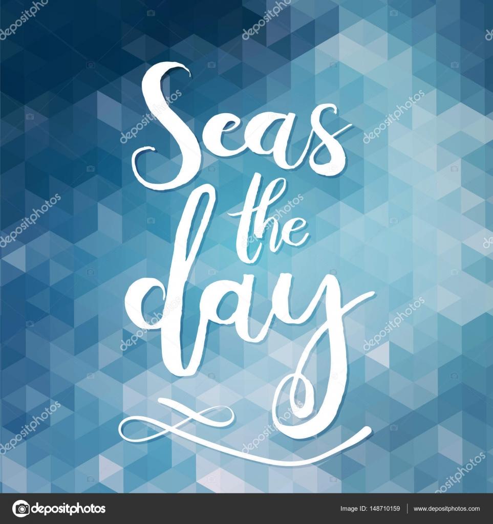 Mar El Día Tipografía única Cartel O Ropa De Diseño