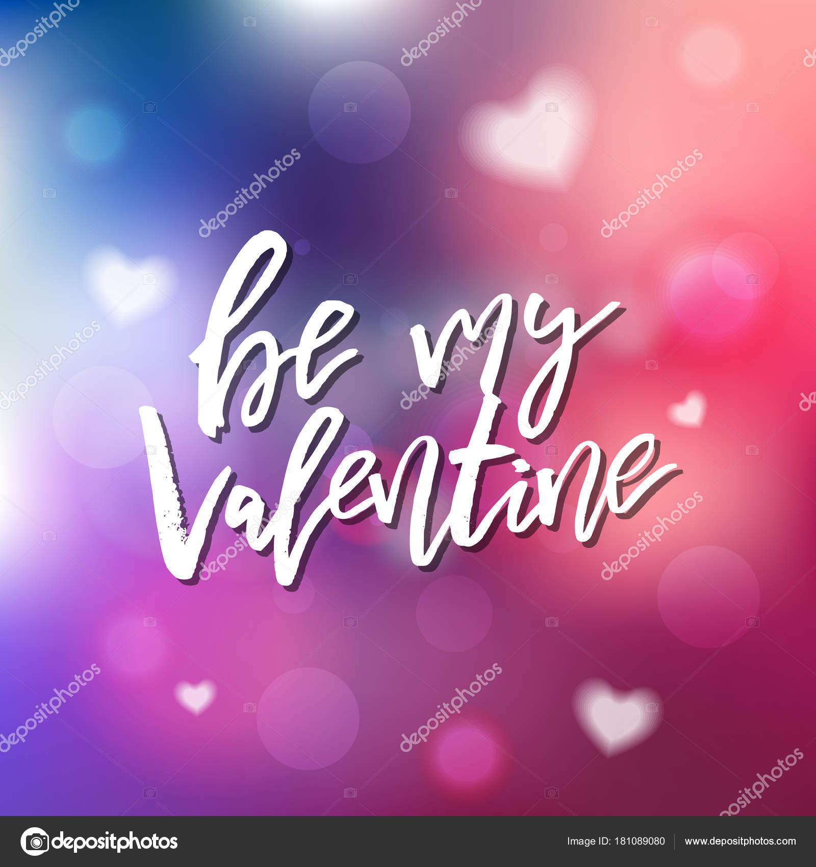 Will You Be My Valentine Kalligrafie Voor Uitnodiging Groet