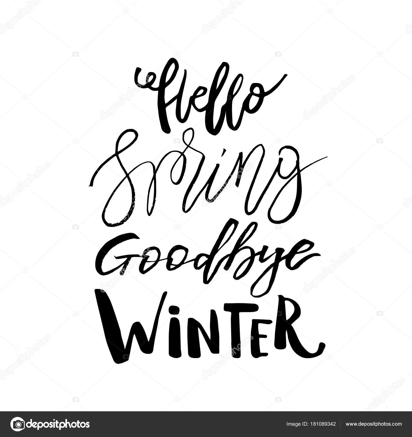 hello spring goodbye winter hand drawn inspiration