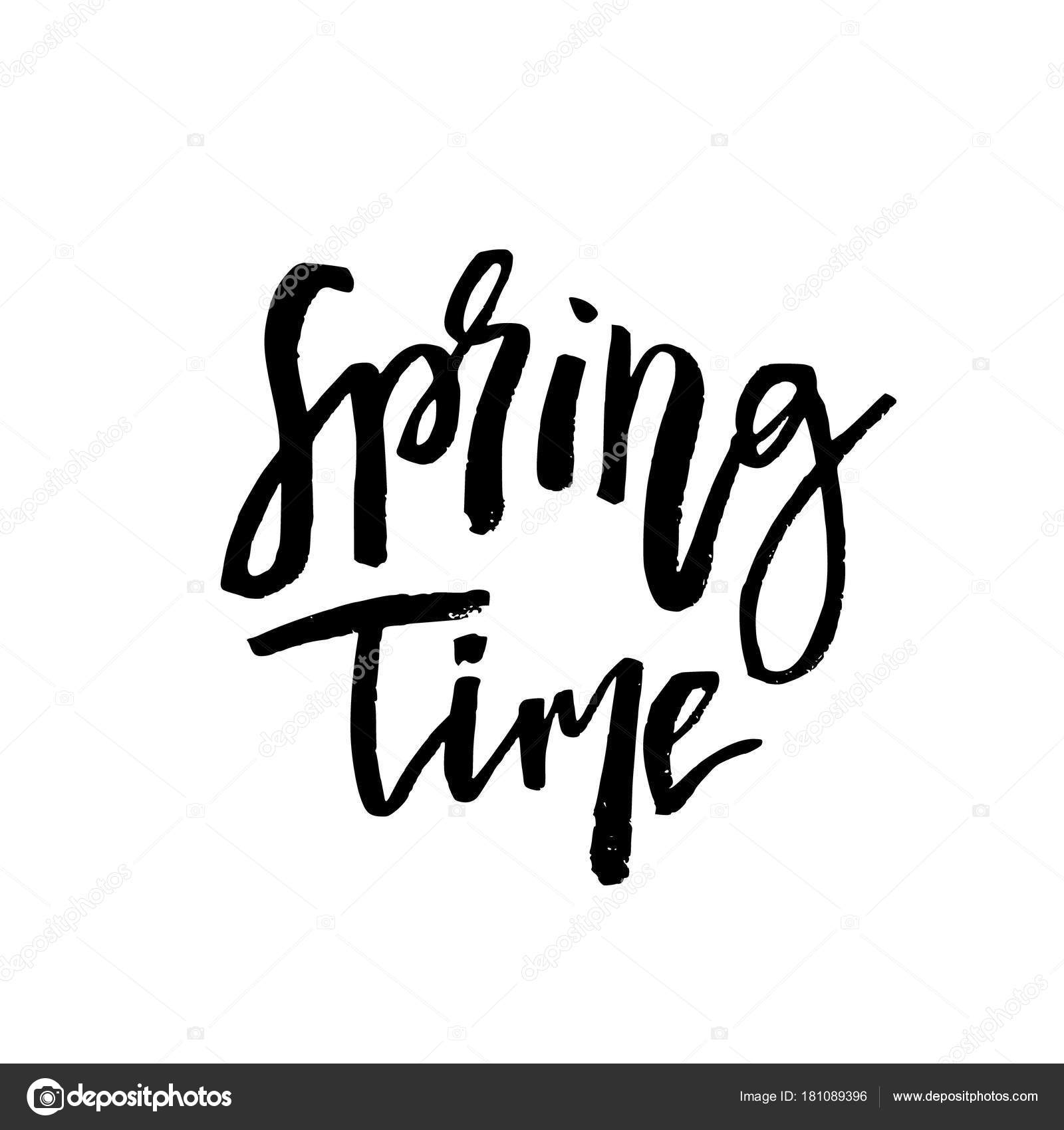 Frühjahr Hand Angebot Inspirieren Lassen Vektor Typografie De