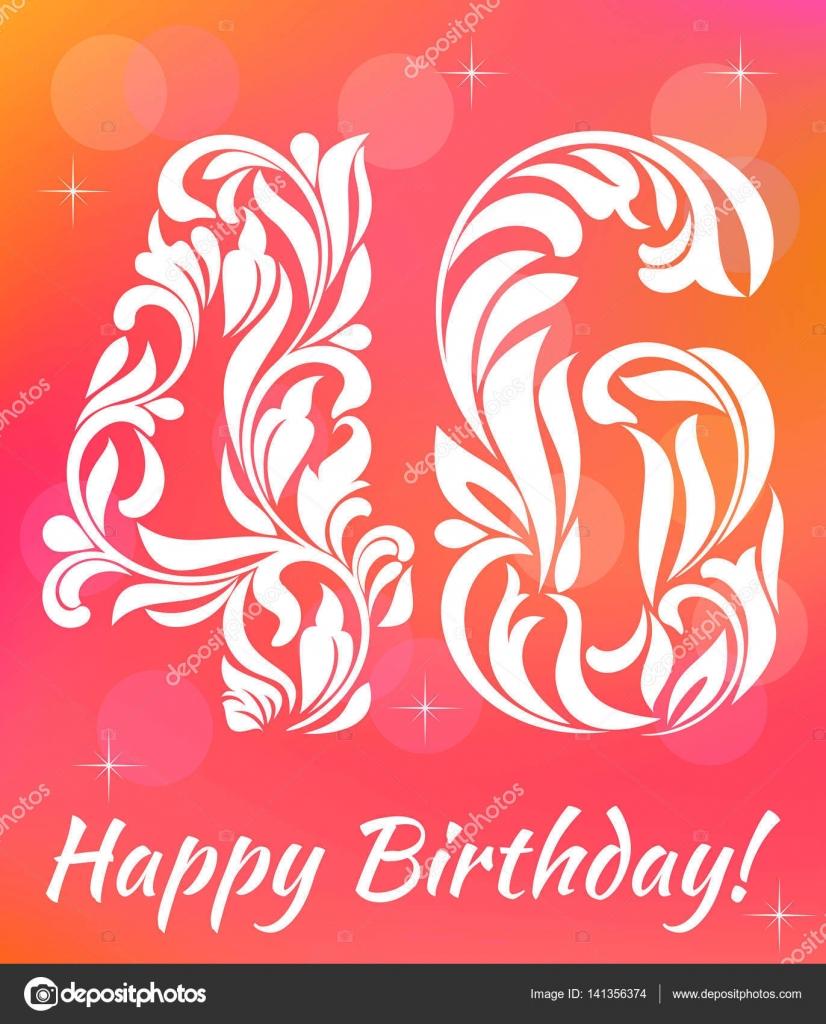 Cartolina Dauguri Brillante Modello Festeggia Il Compleanno Di 46