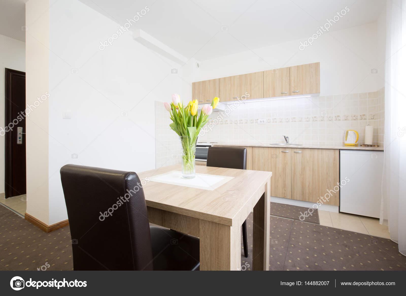 Wohnung Küche Interior design — Stockfoto © rilueda #144882007