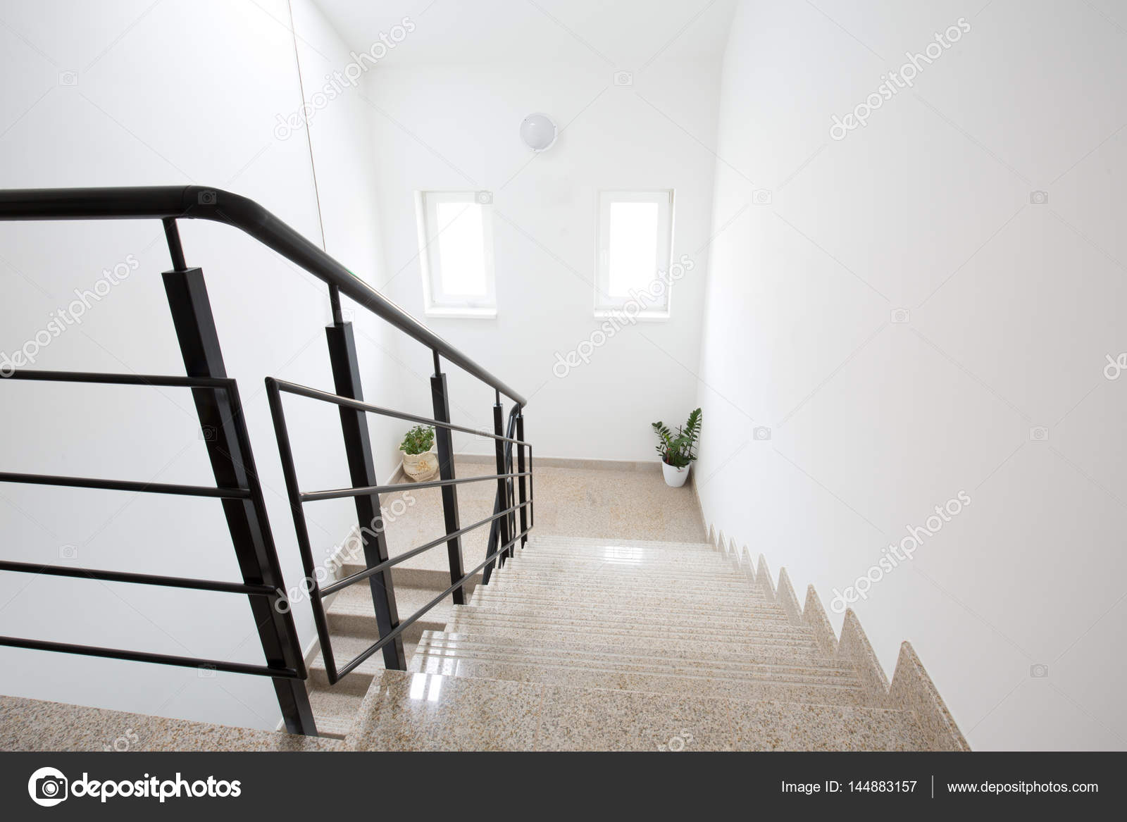 Interior Staircase Design For Duplex House Stock Photo Rilueda