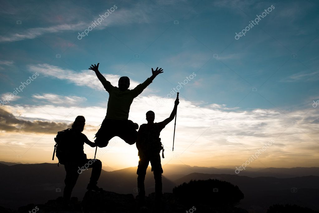 achieve together silhouette stock photo crazymedia 127877224