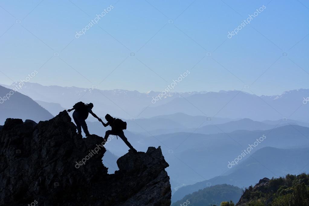 Summit climb struggle and success