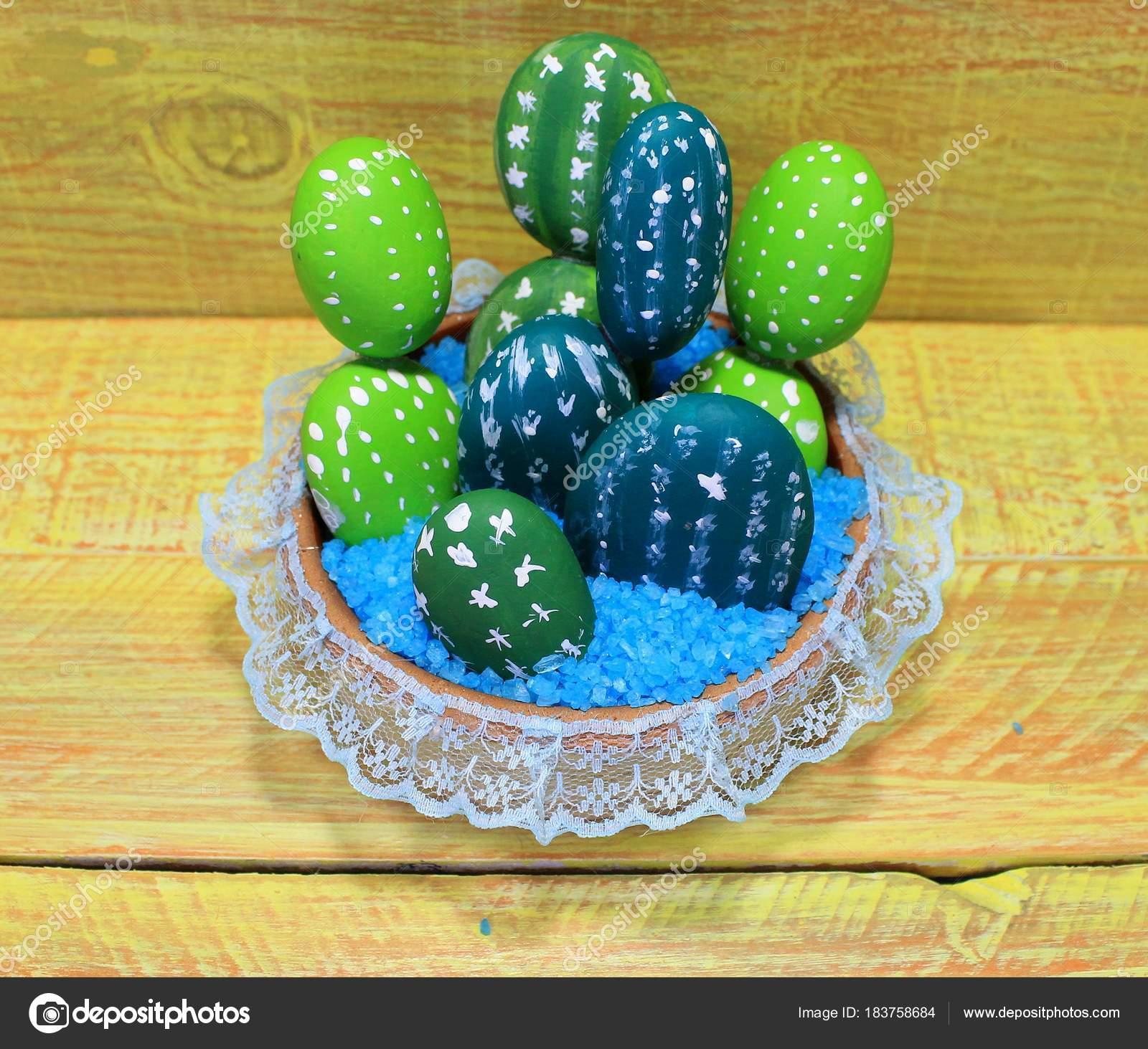 Sztuczne Kaktusy Kamieni Doniczki Ceramiczne Ręcznie Robione