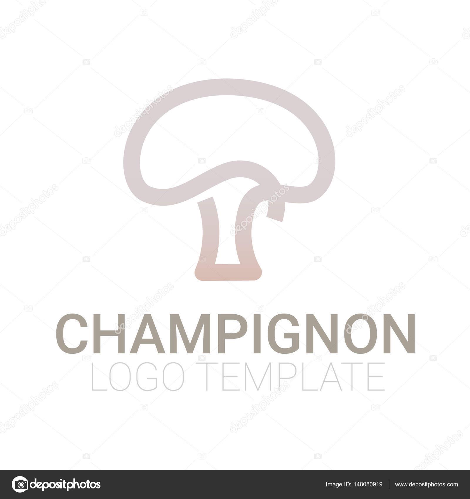 Stilvolle Pilz Symbol oder Logo Vorlage — Stockvektor © AnnaSuchkova ...