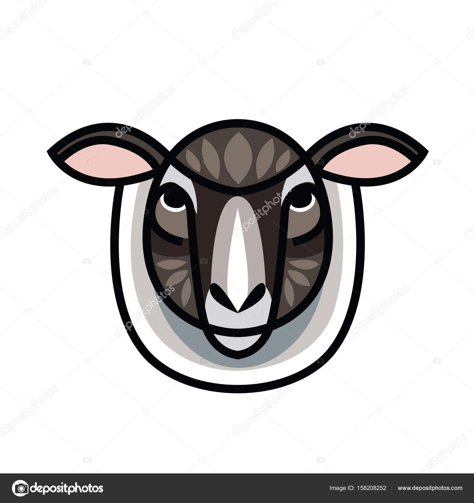 Drawing head of sheep — Stock Vector © AnnaSuchkova #158208252