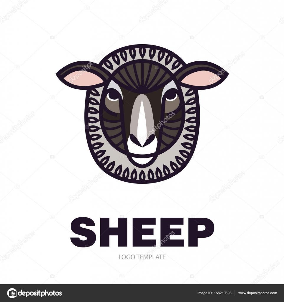 Drawing head of sheep — Stock Vector © AnnaSuchkova #158210898