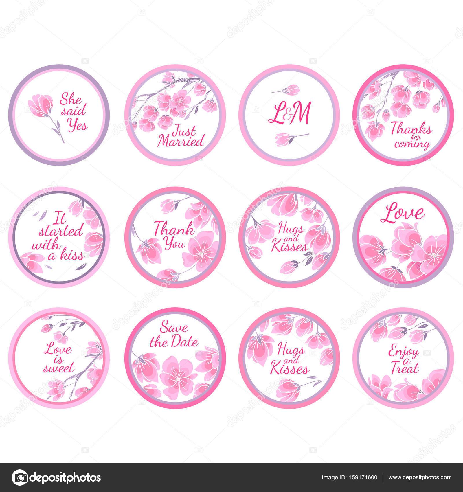 Personalized Candy Sticker Labels — Stock Vector © AnnaSuchkova ...