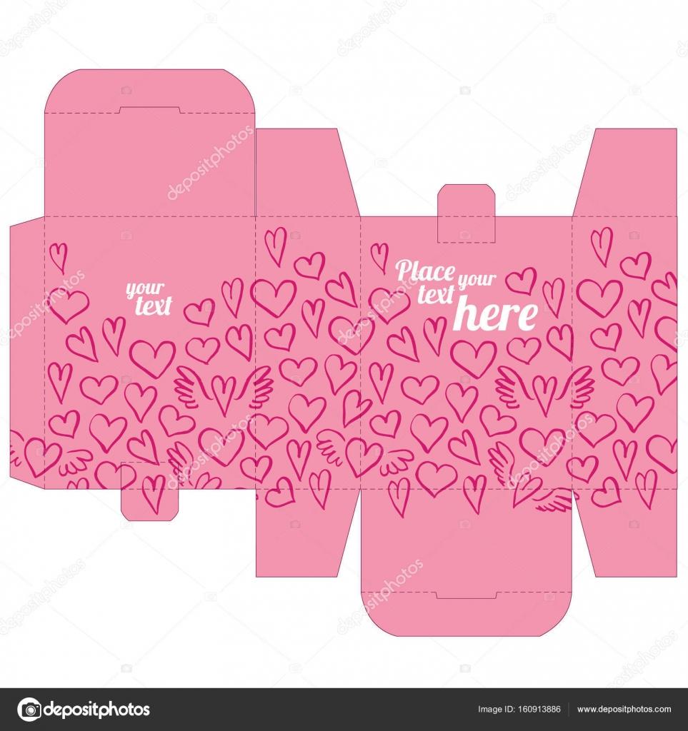 Plantilla de diseño de caja regalo boda favor de morir con patrón de ...