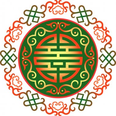 oriental chinese ornament asian traditional pattern floral vintage element cut silhouette ornament central asia applique work for t-shirt mongolian ornament