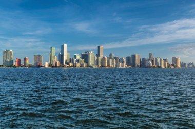 Miami skyline at sunny morning, Miami, Florida.