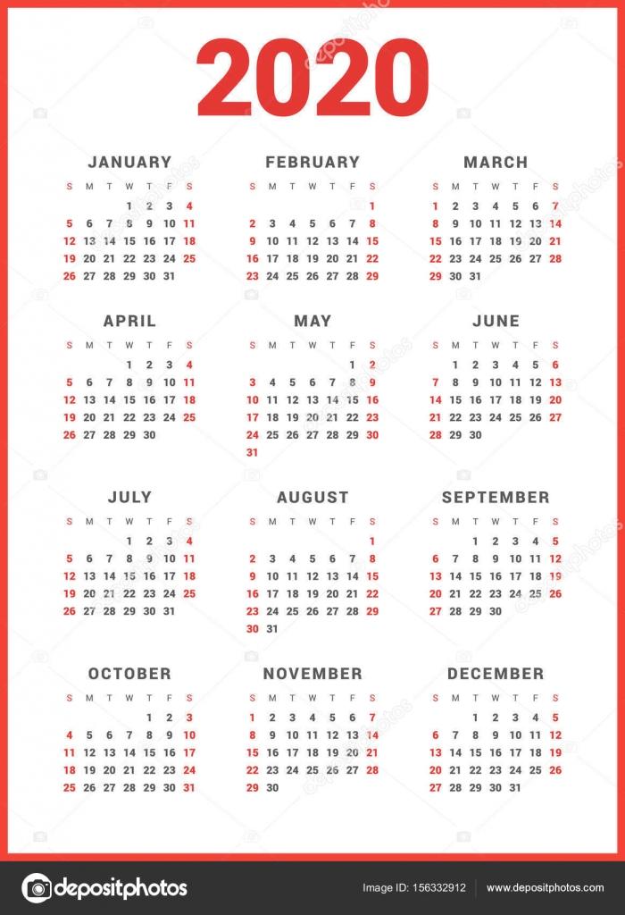 Calendario Italiano 2020 Con Festivita.Calendario Gratuito 2020 Excel Modello Calendario
