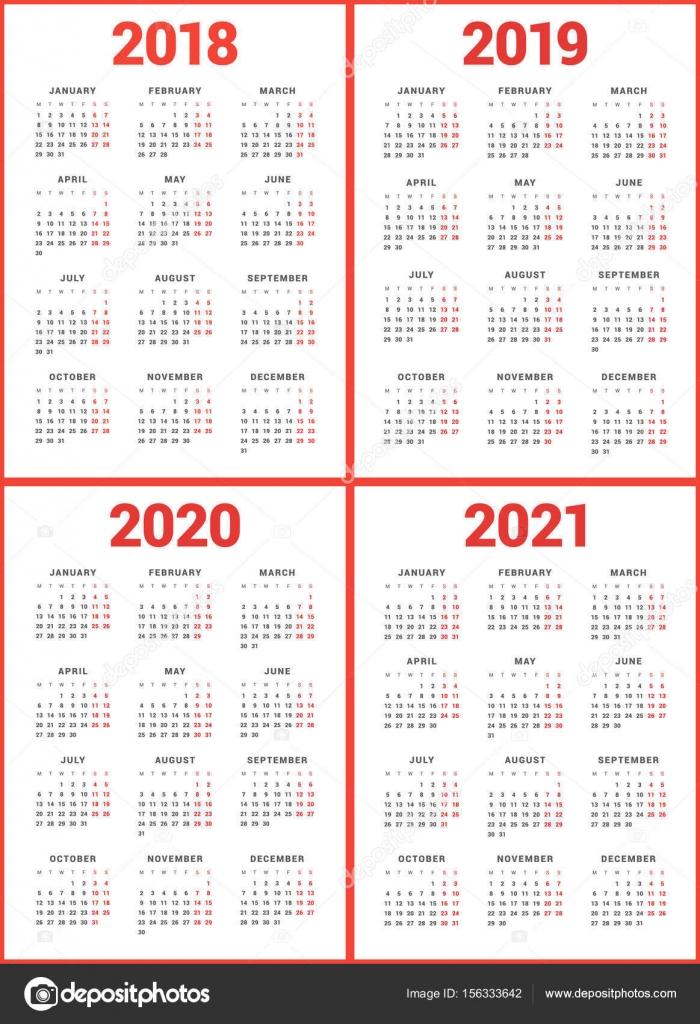 Calendario Diciembre 2020 Para Imprimir.Calendario Simple Para Imprimir Conjunto De Calendarios Para El