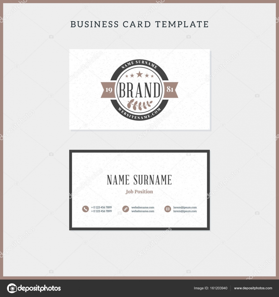 Double sided vintage business card template with retro typograph double sided vintage business card template with retro typograph stock vector wajeb Images