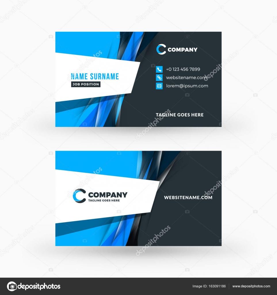 Plantilla de vector creativo y limpio doble cara tarjeta de visita ...