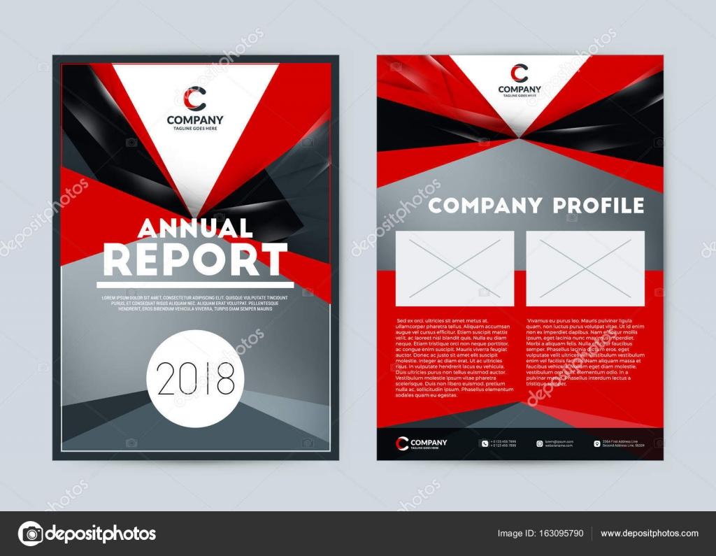 de diseño de la cubierta de informe anual. Maqueta folleto de vector ...