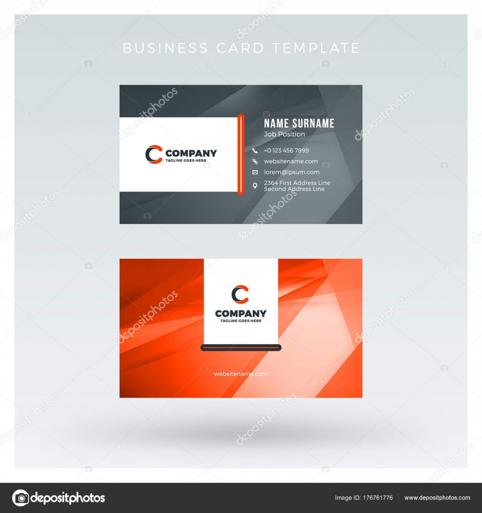 Creative And Clean Double Sided Business Card Vector Template With