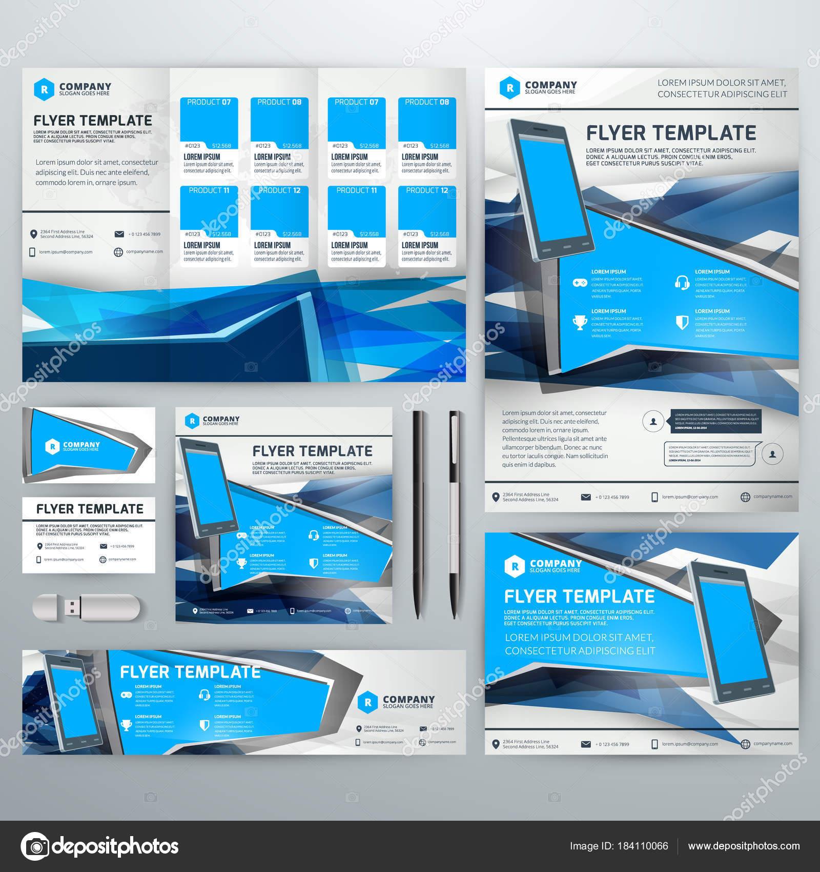 Identit Visuelle Avec Fond Abstrait Vector Web Bannire Flyer Dpliant Affiche Carte De Visite Vecteur Par AntartStock