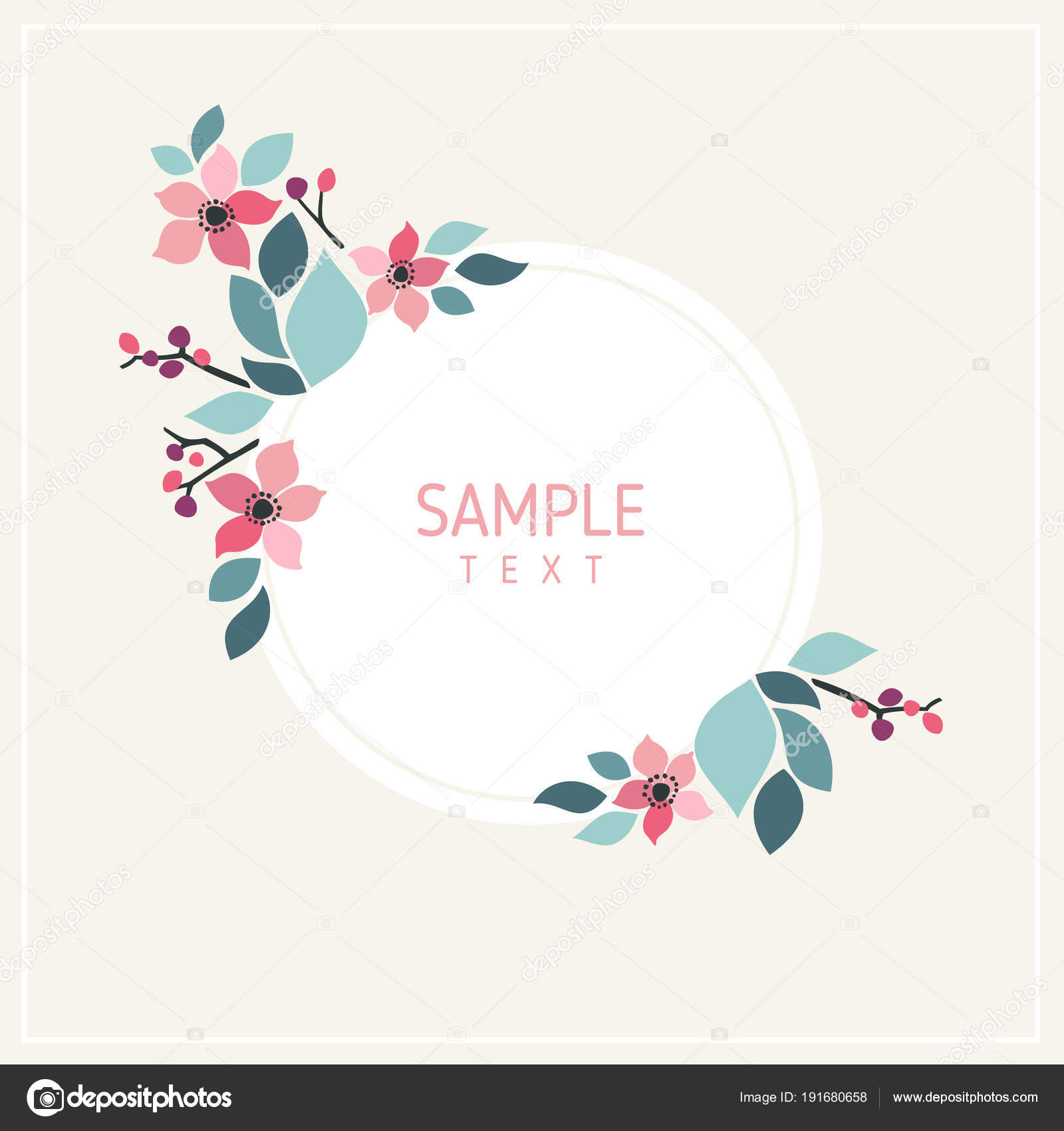 Card with flowers and leaves wedding ornament concept floral wedding ornament concept floral decoration vector layout decorative greeting card or invitation design background vector by antartstock stopboris Choice Image