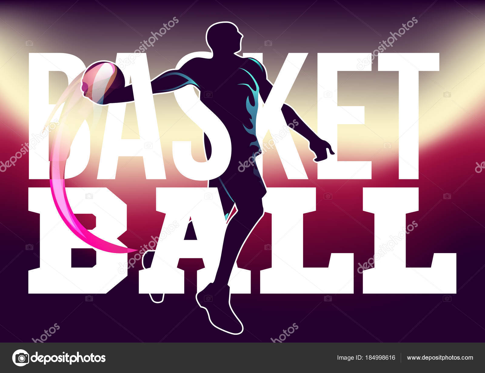 basketball tournament flyer stock vector pechenuh 184998616