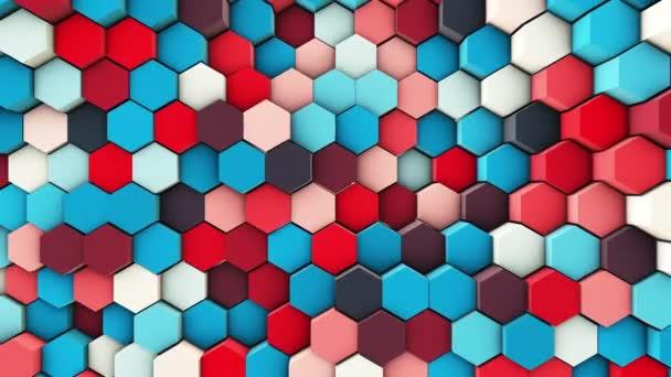 3D gewellte Sechsecke Pfeifen Zeitlupe abstrakter Hintergrund