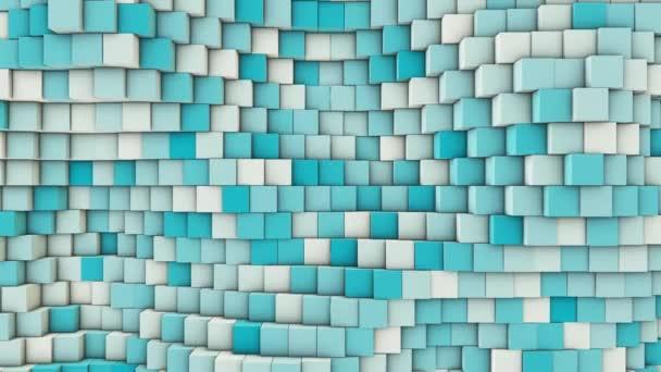 3D zvlněné čtvercové pozadí zpomalení abstraktní pozadí