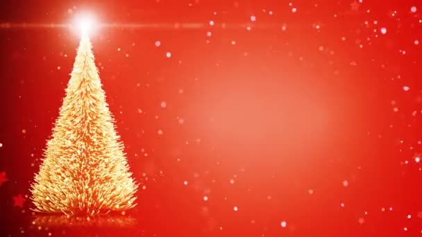 Veselé Vánoce karta vánoční strom s lehkými sněhové vločky