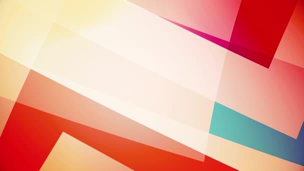 zpomalení barevných obrovských tvarů abstraktní video pozadí skelných a průhledných ploch
