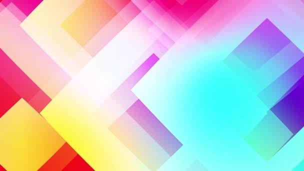 zpomalení barevných tvarů video pozadí sklovité a průhledné kruhové tvary