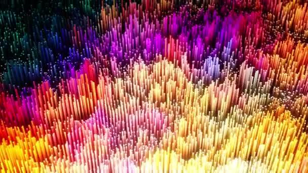 abstraktní fantastické pozadí 3D animace