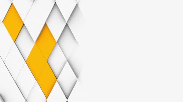 abstraktní polygonální geometrický povrch bílá minimální polygonální mřížka vzor s nějakým barevným prvkem náhodné vlnění pohybu pozadí plátno v čisté architektonické zdi s bílým designem prostor