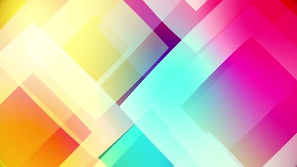 barevné kruhy a čtverce, skleněné pozadí a průhledné kruhové tvary