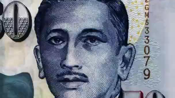 cvakání 30 bankovek z různých zemí animace burzy s dolar jen rial libra švýcarský frank juan koruna peso vyhrál lira skutečné rupie rand