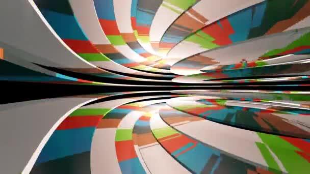 létání barevným tunelem abstraktní video pozadí