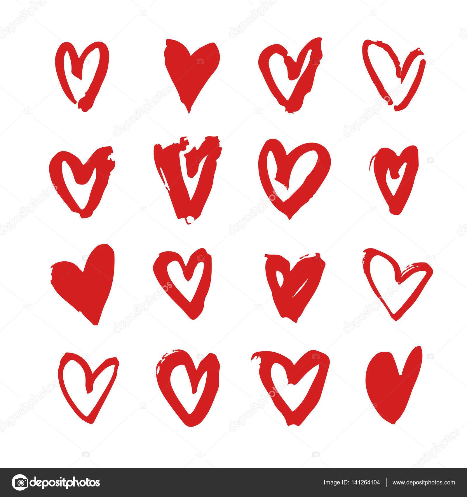 Elle çizilmiş Boya Kalp Mor Ve Beyaz Romantik Kartı Soyut Fırça
