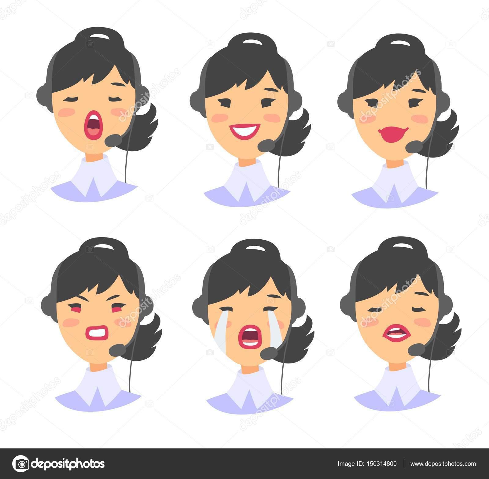 animado mujer asiática