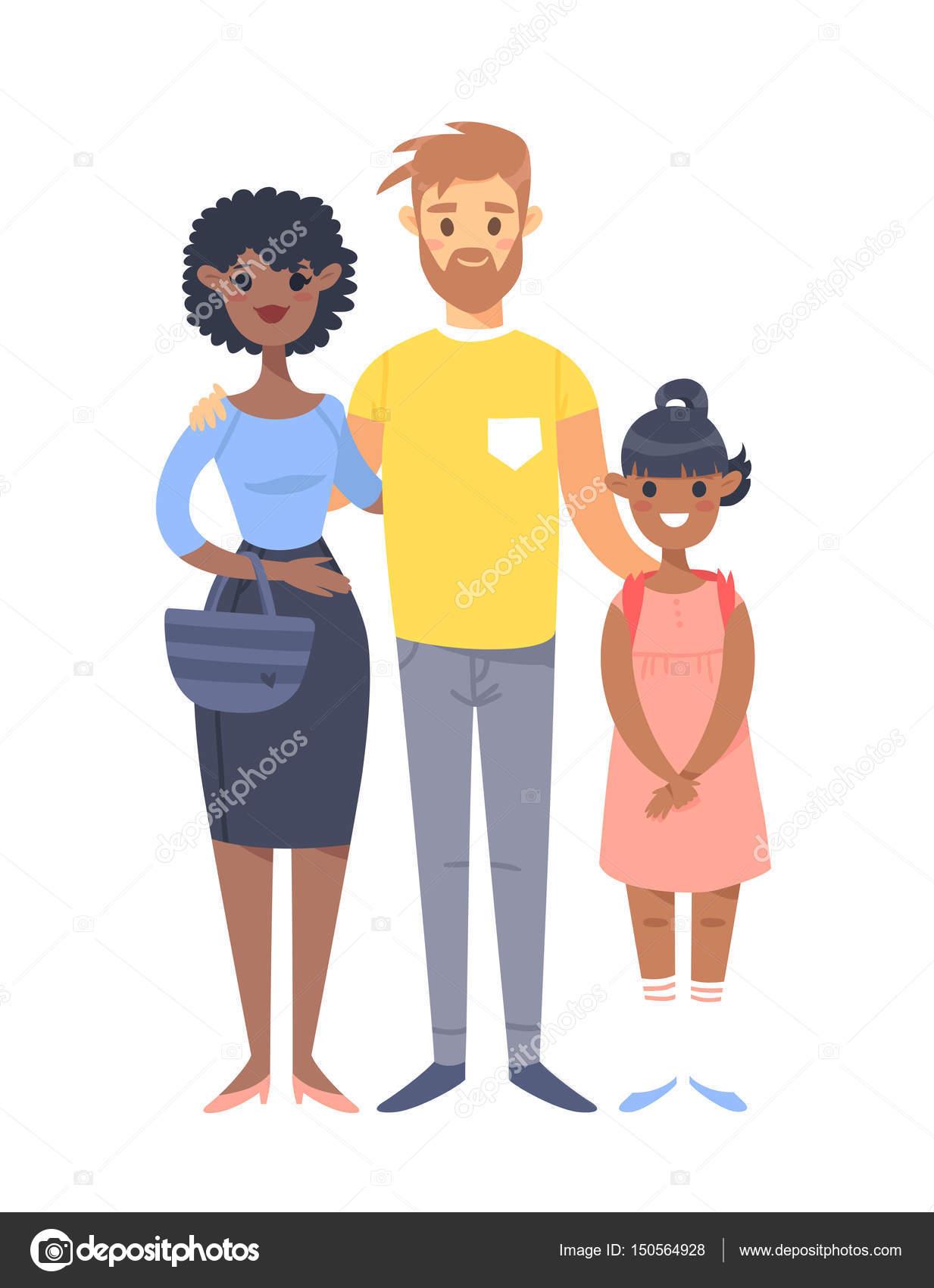 Weiße Tochter aus einem schwarzen Mann