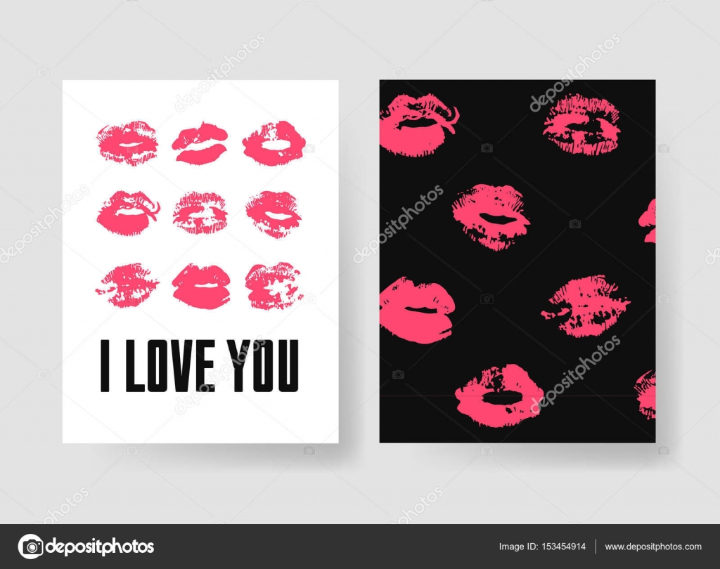 set of templates for romantic cards hand drawn fashion illustration