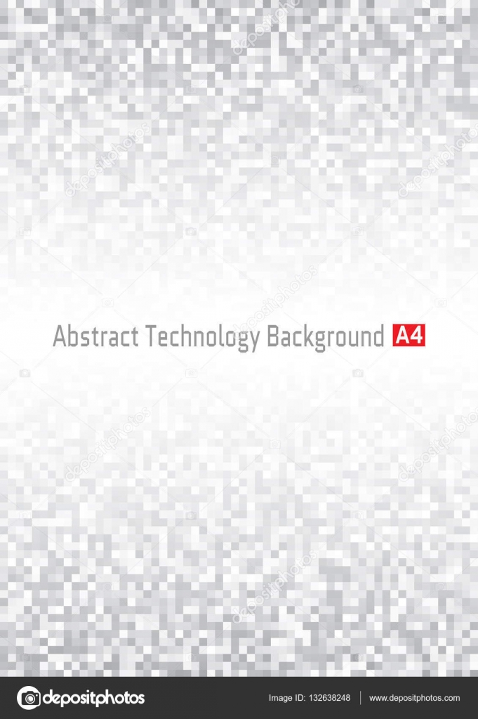 Abstract Gray Pixelated Vertical Technology Background, A4 Format