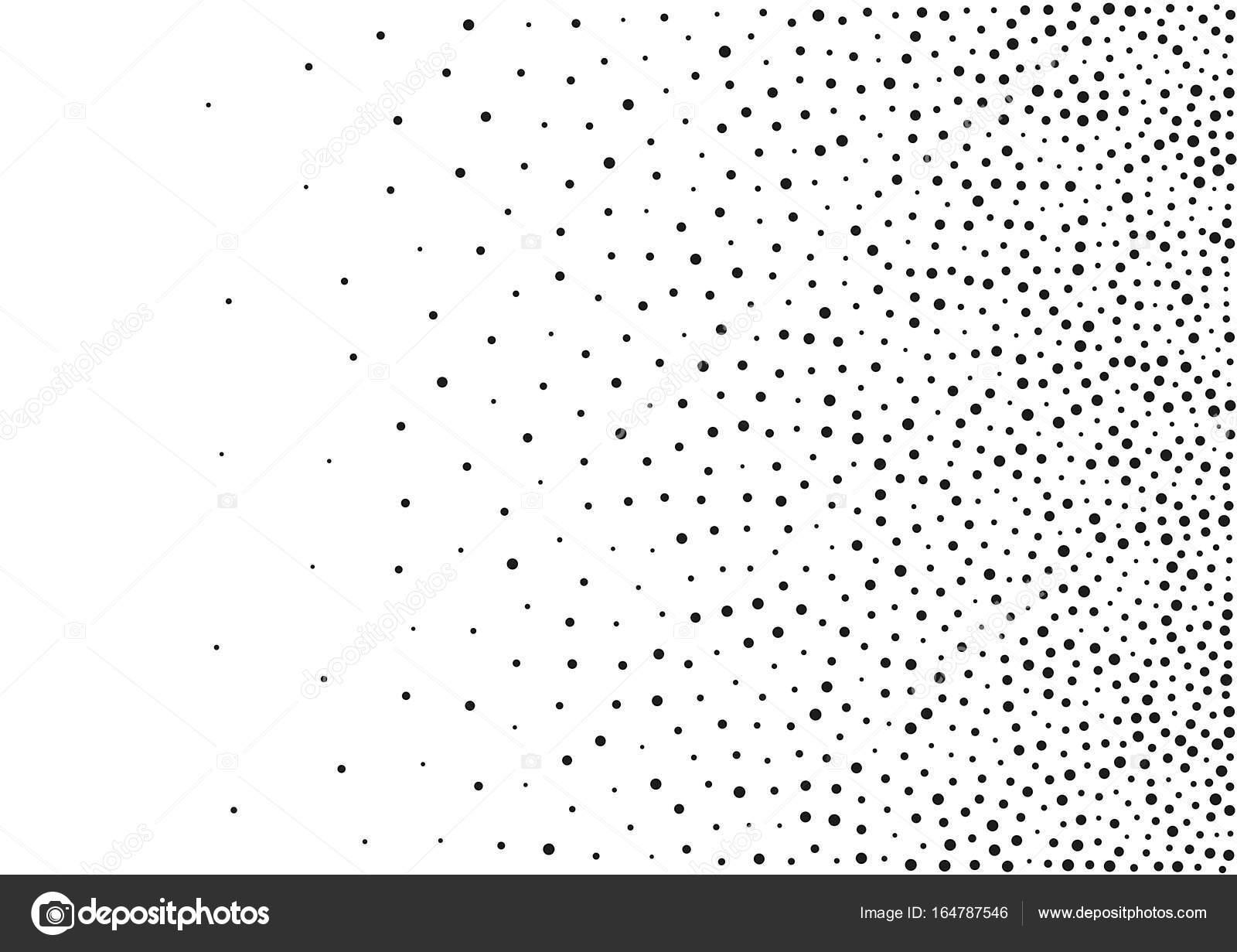 Abstracta fondo de puntos al azar del gradiente medio tono. Tamaño ...