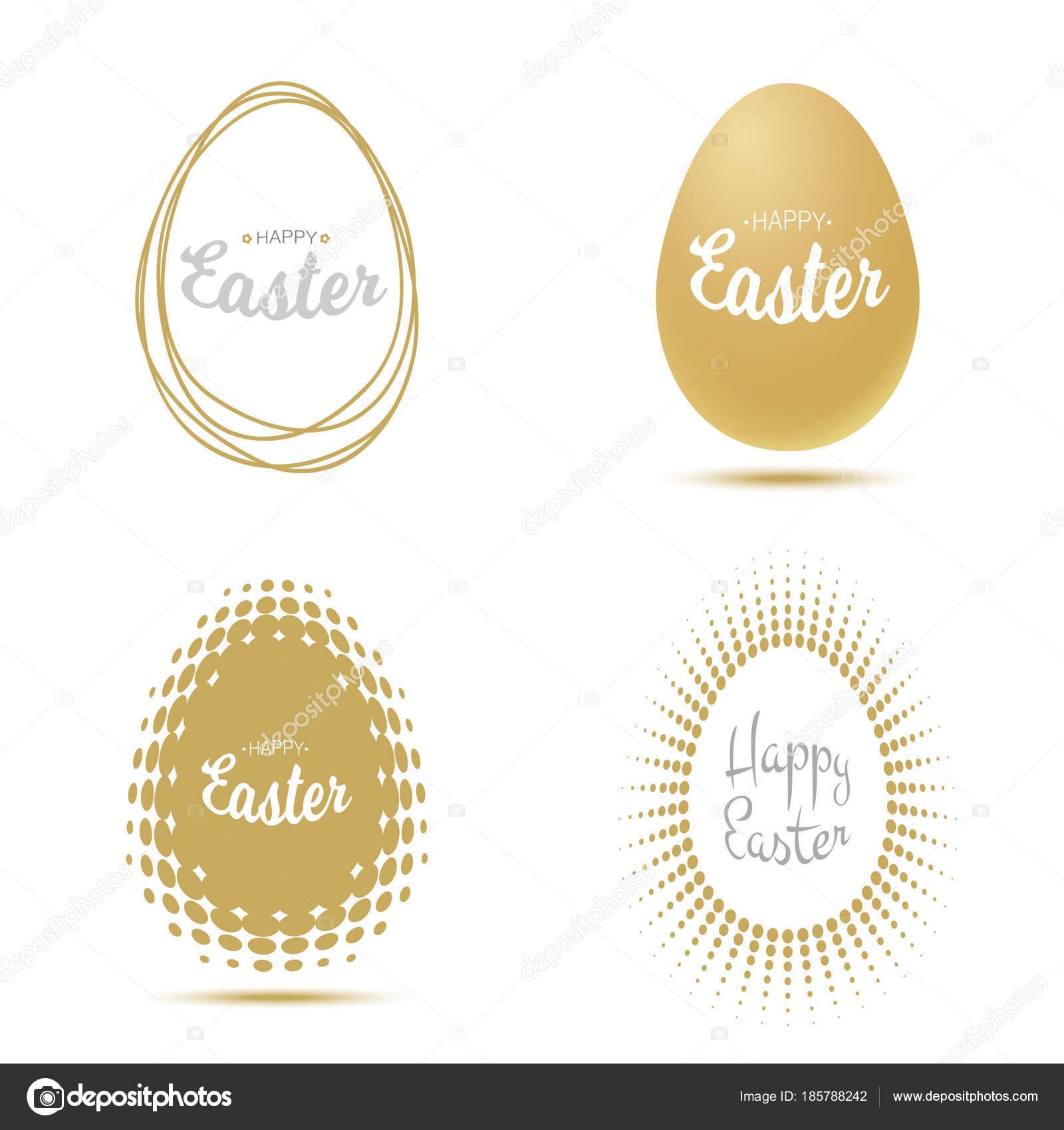 Osterei für Gruß-und Glückwunschkarten. Gold - Silber ...
