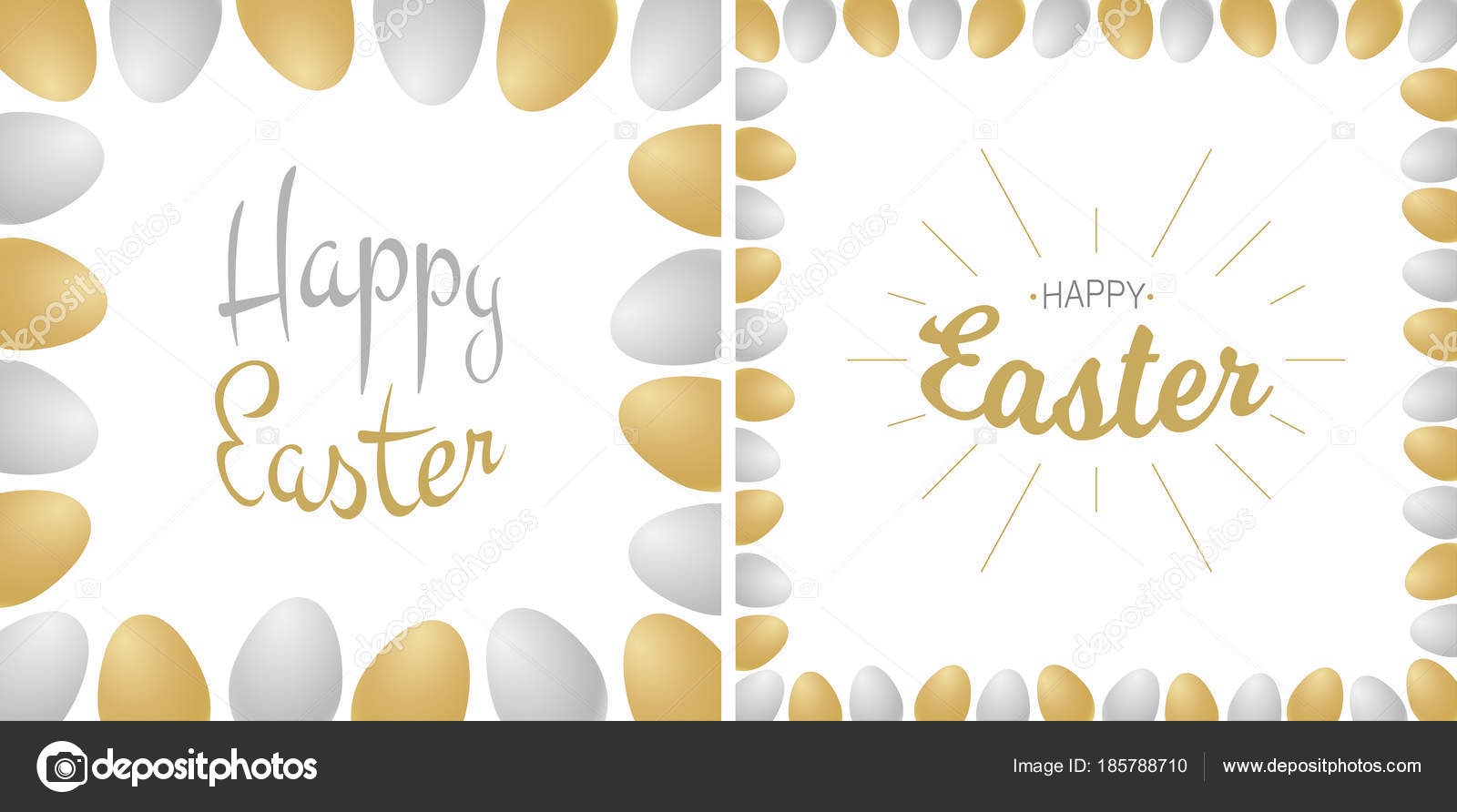 Easter greetings card gold silver typographic calligraphic easter greetings card gold silver typographic calligraphic lettering isolated on white background with gold m4hsunfo