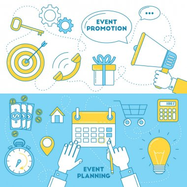 Event planning banners